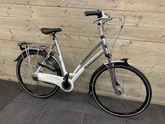 Gazelle Chamonix 8V D61, Zilver/Wit