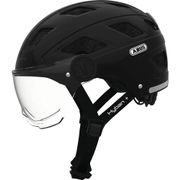 Abus helm Hyban + smoke visor, black L 58-63