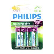 Philips batt R6 AA opl baar 2100mA