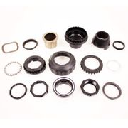 Cortina balhoofd lockset 1 1/8 black