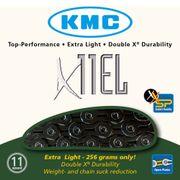 KMC achterwielX11EL 118L zwart