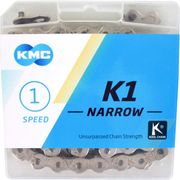 KMC achterwielK1 3/32 narrow silver
