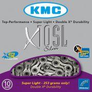 KMC achterwielX10 SL zilver