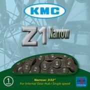 KMC achterwielZ1N 3/32 narrow bruin
