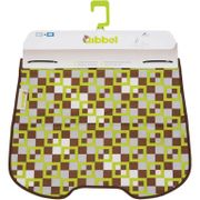 Qibbel windschermflap checked groen
