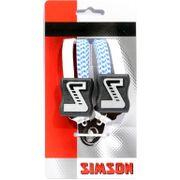 Simson snelbinder kort wt/blauw