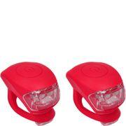 UP Siliconen LED Fietslampjes set Rood