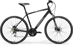 CROSSWAY 20 MATT BLACK/WHITE/GREY S-M
