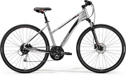 CROSSWAY 100 SHINY DARK SILVER/RED/BLACK L 55CM LA