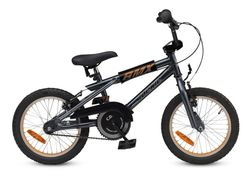 16 Loekie Bmx Boy Darkgrey/Orange