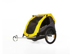 Burley fietskar rental cub kind geel