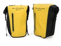 Burely tas achtertassen pannier bag set geel