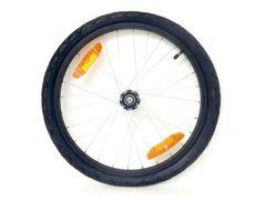 Fietskardl wiel 20x1.75 aluminium zwart + band + push bu