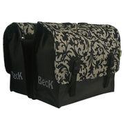 Beck Classic Decoration Black/White Dubbele Fietstas
