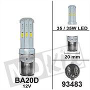Lamp Bollard BA20D 12V 35/35W (10W LED)