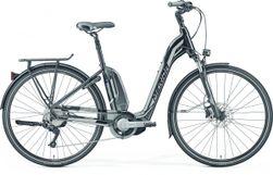 Merida E-Spresso City 300 Glossy Black/Silver, Zwart