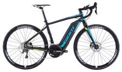 Giant Road-E+ 1, Incl. 500Wh, Black/Cyan/Lime