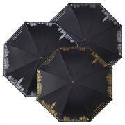 Impliva paraplu Amsterdam metalen stok, bijpassend gekleurde haak