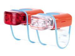 "IKZI-Light Led set voor+achter elastiek bev.""Stripties"" rood"
