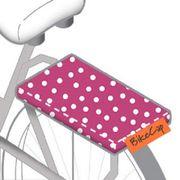 BIKECAP Pillow fietskussen pink dot roze/wit