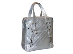 Quilts enkele shopper zilver