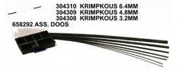 Krimpkous 6.4 mm. prijs per 10 cm.!