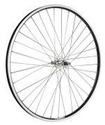 """Achterwiel 28"""" dubbelwandige velg zwart freewheel, vaste as"""
