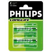 Philips batterijen R14 1,5V  per 2 stuks