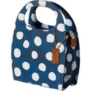 Mirte LTD shoppertas indigo blue/white dots