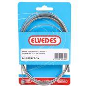 Elvedes rem binnenkabel rvs 3m 2 nippels ton 7x6 p