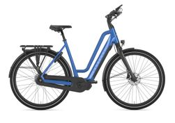 Gazelle Chamonix HMS test e-bike, tropical blue glans