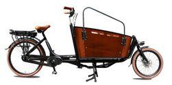 Vogue Vogue  E-bike  Carry  Two Cargo  7sp Shimano  Matt, Matt-black/brown