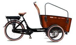Vogue Vogue E-bike Bakfiets Carry 7 Nexus  Matt-black/br, Matt-black/brown