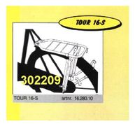 "Bagagedrager 28"" Tour met klapstandaard - zwart"