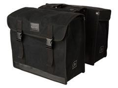 Fastrider dubbele tas canvas 36 zwart