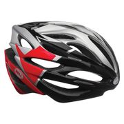 BE7039594 Bell Helm Array SILVER /RED/BLACK VELOC