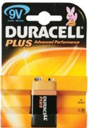 DURACELL PLUS POWER 9V 9VOLT BLOCK 1ER BLISTER