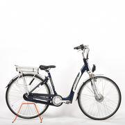 Bikkel Senior fiets extra lage instap, Blauw Zilver