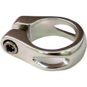 Union zadelpenklem 31.8mm sleuf zilver