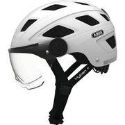 Abus helm Hyban + clear visor, white cream L 58-63