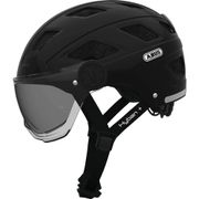 Abus helm Hyban + smoke visor, black M 52-58