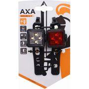 Axa led lamp voor+achter niteline 44-r usb oplaadb