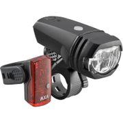 Axa led lampset v+a greenline usb oplaadbaar 50 lu
