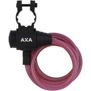 Axa oprolslot zipp roze 120cm/8mm met framehouder