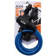 Axa oprolslot zipp blauw 120cm/8mm met framehouder