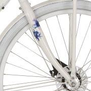 Cortina voorvork U5 D white pearl donker flowers
