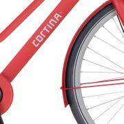 Cortina voorspatbord 28 Common true red matt