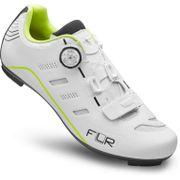 FLR F-22 Race Schoen Wit/NeonGeel 41