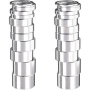Balhoofddl spacer 1 1/8 aluminium zilver box assorti