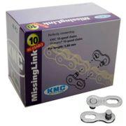 Kmc kettingschakel wp (40) zilver pin 5 10 speed,8